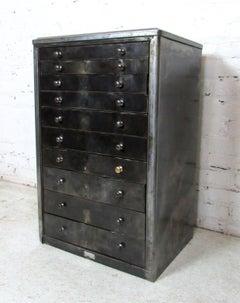 Vintage Industrial Metal Chest