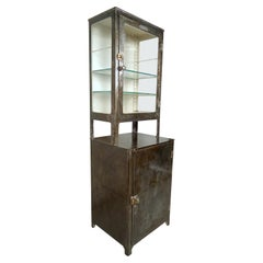 Vintage Industrial Metal Doctors Cabinet