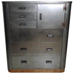 Vintage Industrial Metal Dresser