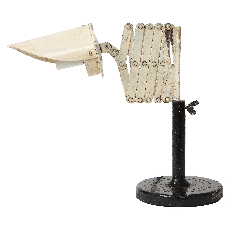 Vintage Industrial Metal Scissor Lamp, circa 20th Century