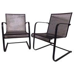 Vintage Industrial Metal Spring Chairs