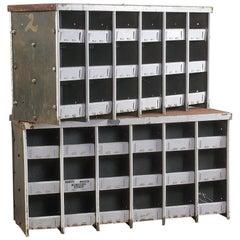 Vintage Industrial Metal Storage Units Small, 20th Century