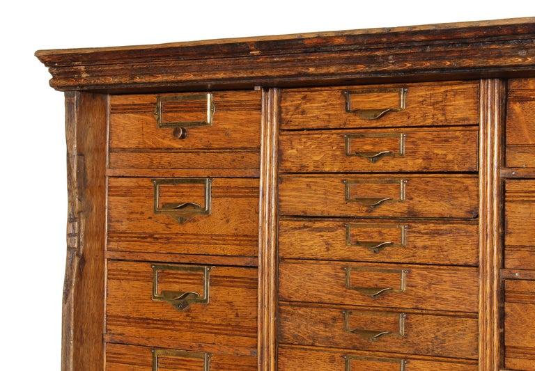 Vintage Industrial Multi Drawer Cabinet For Sale at 1stdibs