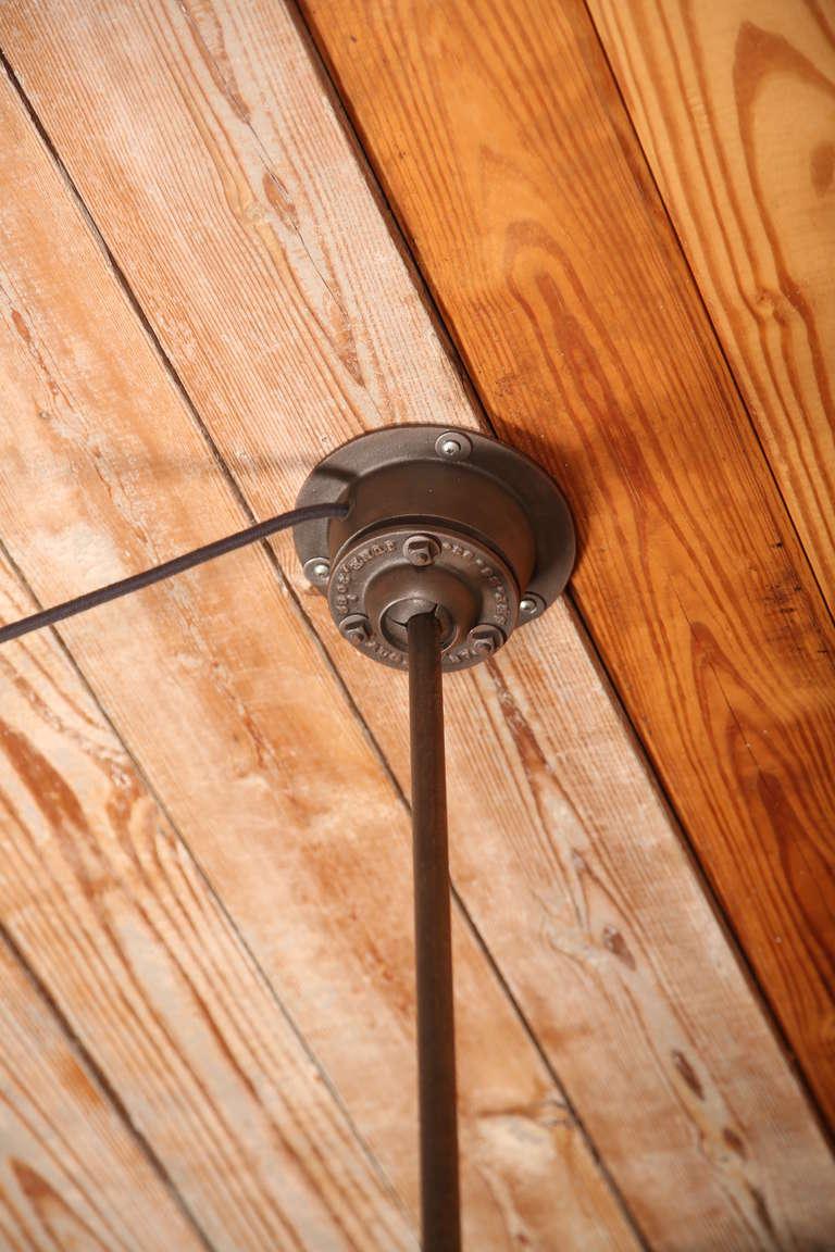 Vintage Industrial, O.C. White Adjustable Ceiling Task Light Lamp For Sale 4