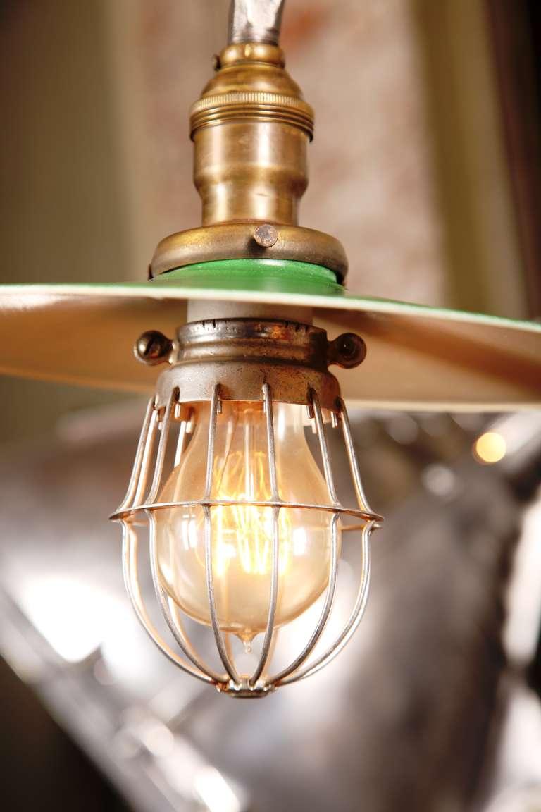Metal Vintage Industrial, O.C. White Adjustable Ceiling Task Light Lamp For Sale