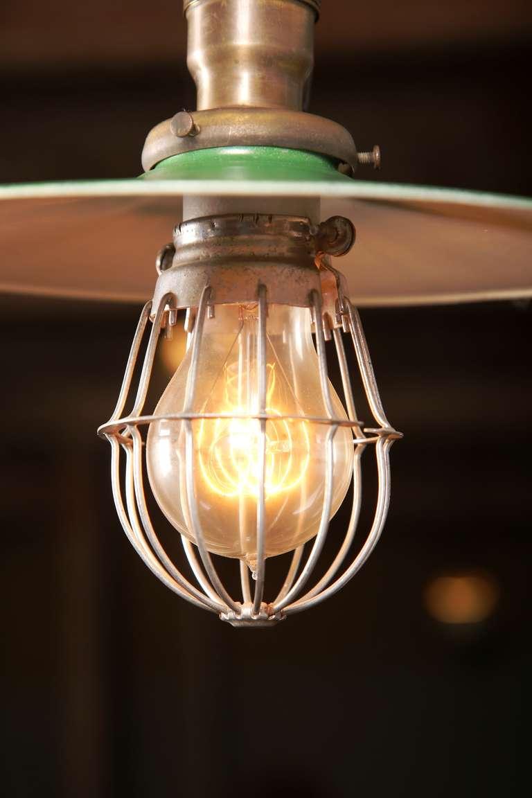 Vintage Industrial, O.C. White Adjustable Ceiling Task Light Lamp For Sale 1
