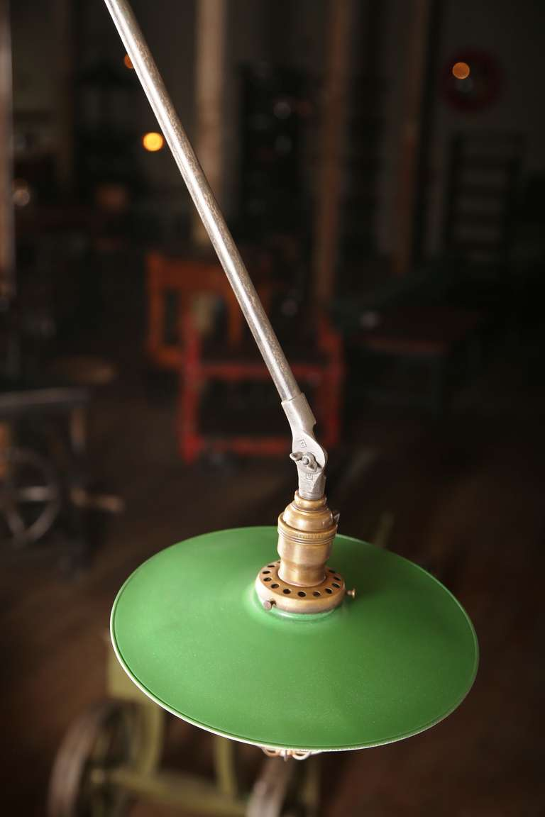 Vintage Industrial, O.C. White Adjustable Ceiling Task Light Lamp For Sale 2