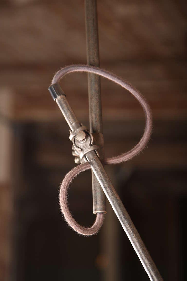 Vintage Industrial, O.C. White Adjustable Ceiling Task Light Lamp For Sale 3