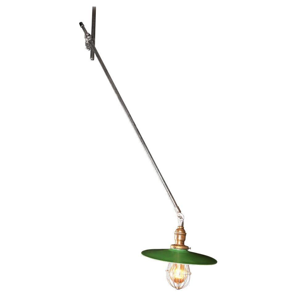 Vintage Industrial, O.C. White Adjustable Ceiling Task Light Lamp