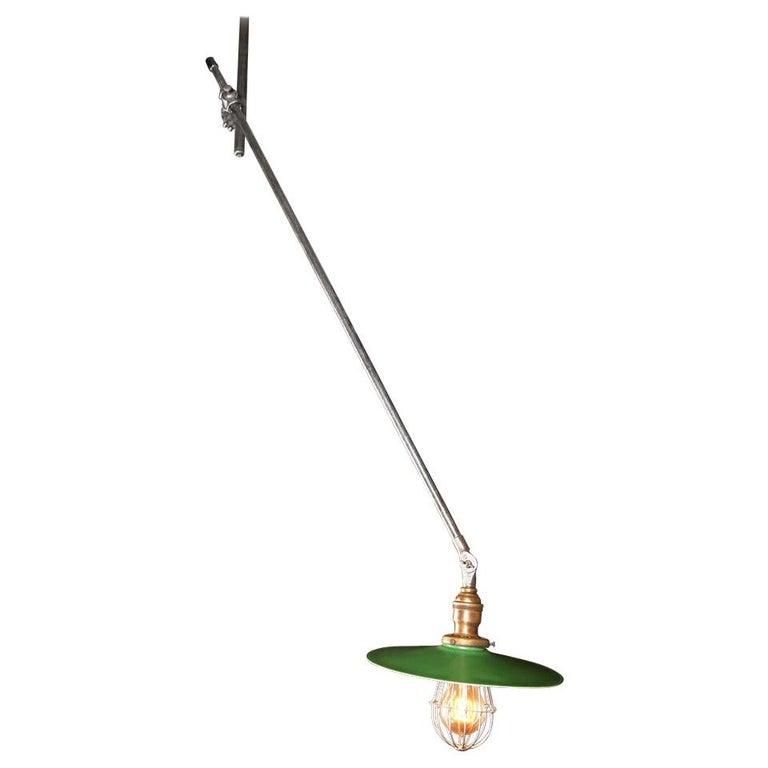 Vintage Industrial, O.C. White Adjustable Ceiling Task Light Lamp For Sale