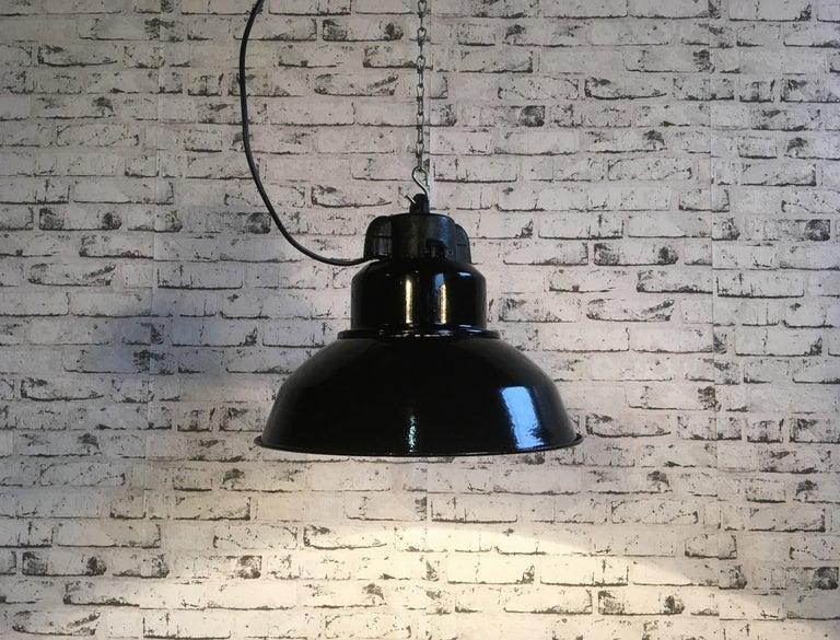 Czech Vintage Industrial Pendant Lamp For Sale