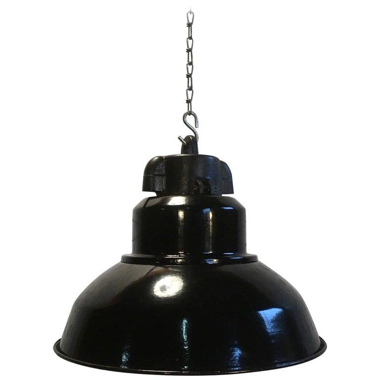 Vintage Industrial Pendant Lamp For Sale