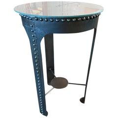 Vintage Industrial Riveted Tank Table #1