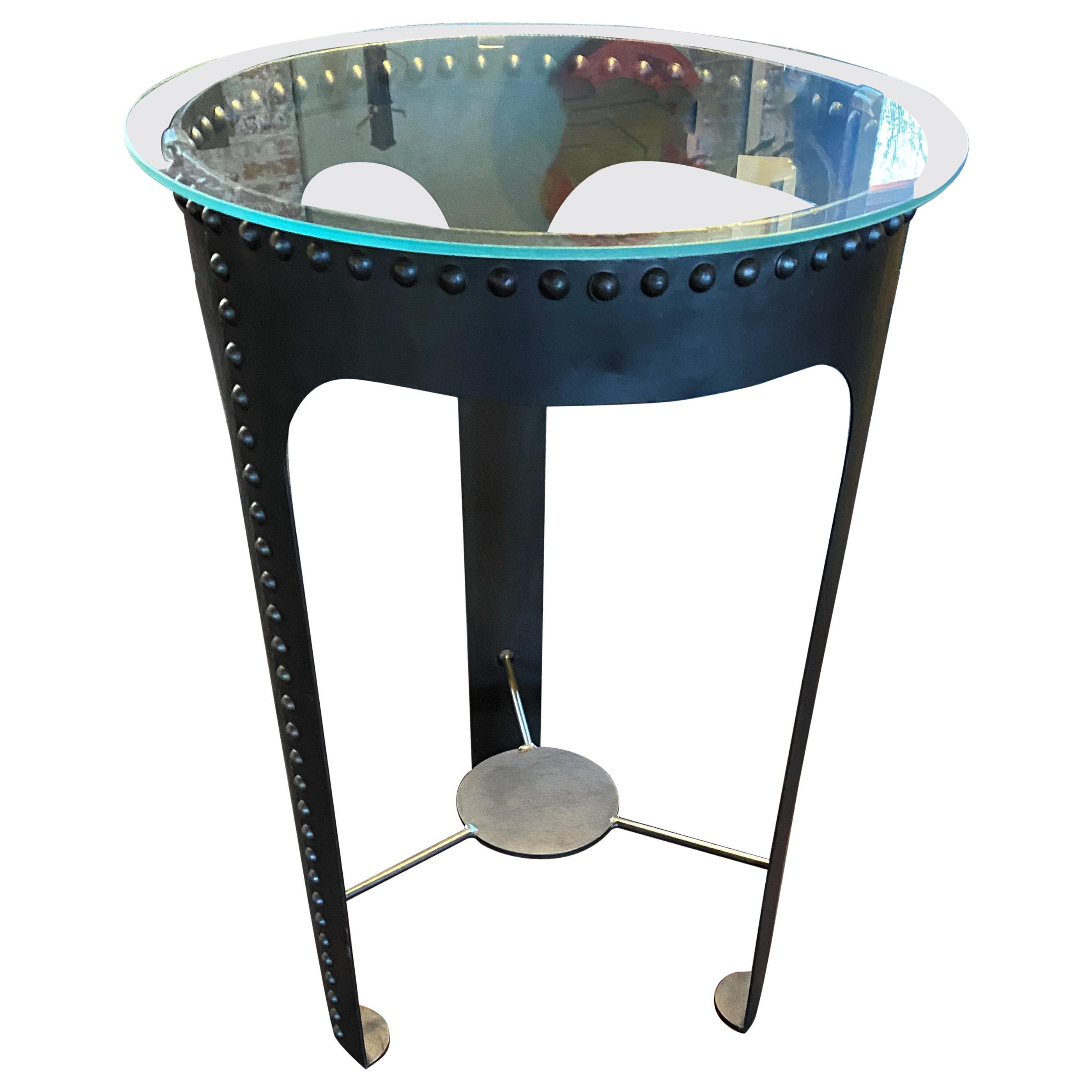 Vintage Industrial Riveted Tank Table #2