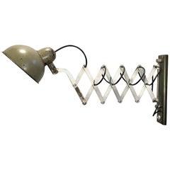 Vintage Industrial Scissor Wall Lamp, 1960s
