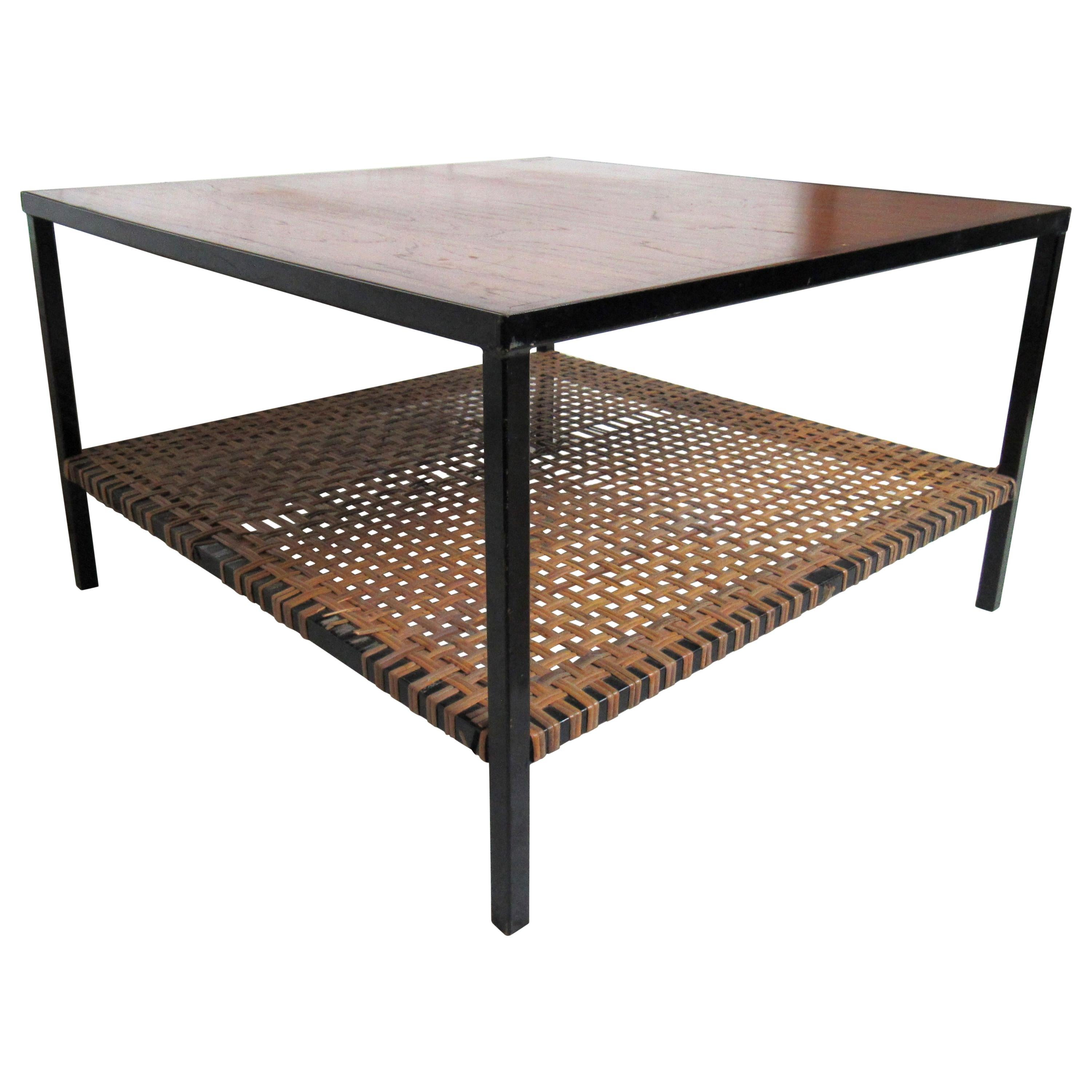 Vintage Industrial Square Coffee Table