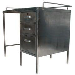 Vintage Industrial Stainless Steel Desk