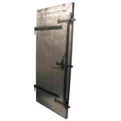 Vintage Industrial Steel Plate Fire Door from 1915 Print Factory