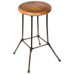 Vintage Industrial Stool Made by Boston E&E Co.