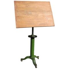 Vintage Industrial Table Drafting Table Work Table