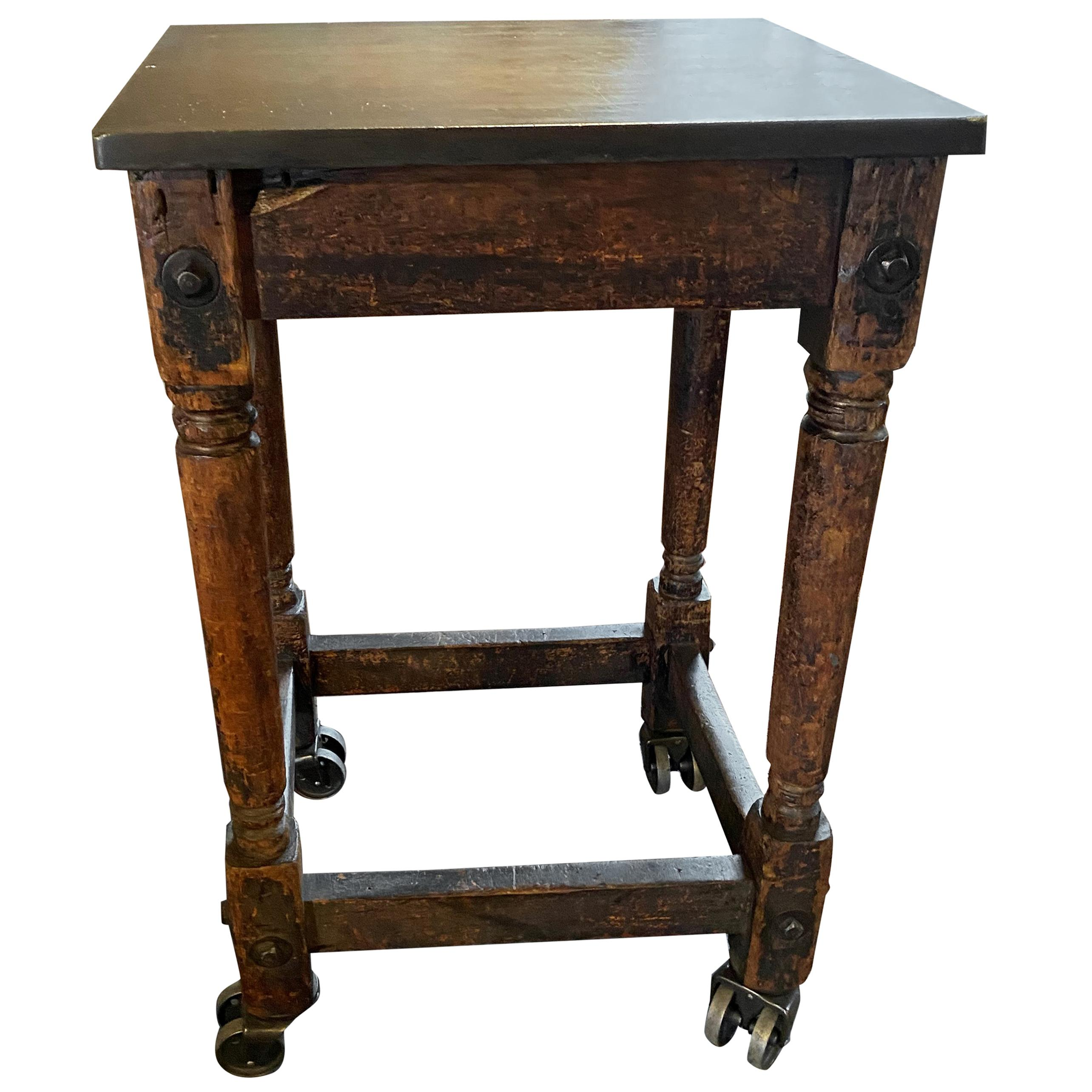 Vintage Industrial Table / Island Cart