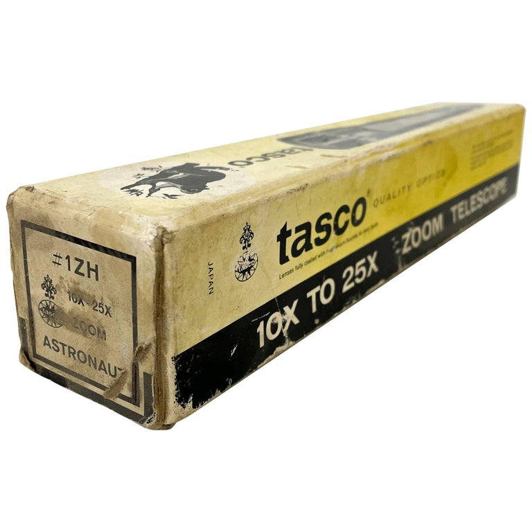 Vintage Industrial TASCO Telescope with Original Package Box For Sale