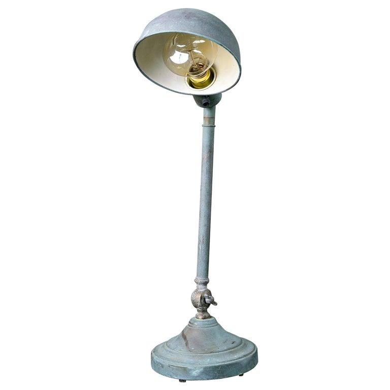 Vintage Industrial Task or Desk Lamp with Interesting Patina For Sale