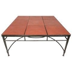 Vintage Industrial Tile Coffee Table
