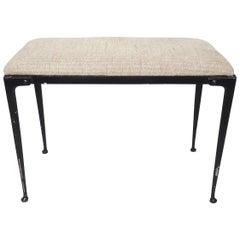 Vintage Industrial Upholstered Bench