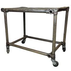 Vintage Industrial Welded Mechanics Table