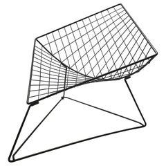 "Vintage Industrial Wire Lounge Chair ""Oti"" by Niels Gammelgaard for Ikea, 1980s"