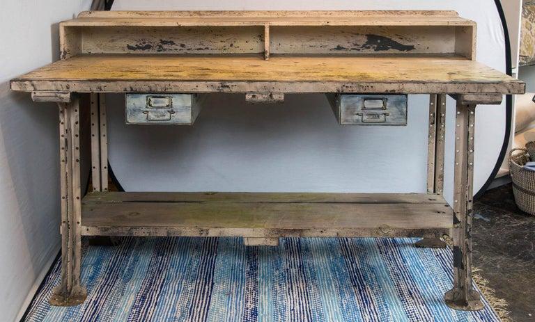 Vintage Industrial Work Desk For Sale 4 - Vintage Industrial Work Desk For Sale At 1stdibs