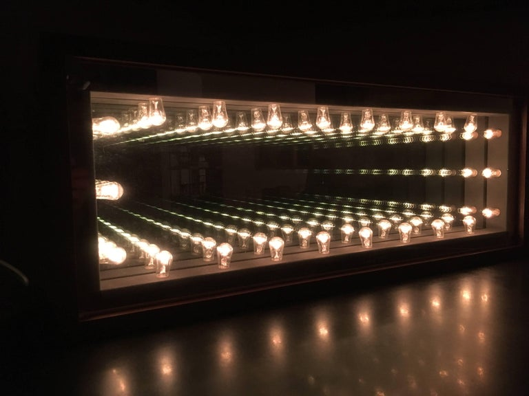 Glass Vintage Infinity Mirror For Sale
