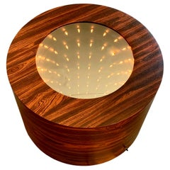 Vintage Infinity Mirror Side Table