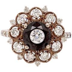 Vintage Inspired Art Deco Black Diamond Ring