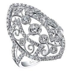Vintage Inspired Diamond Ring FR100