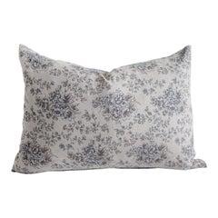 Vintage Inspired European Linen Lumbar Pillow Cover