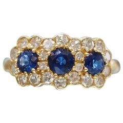 Vintage Inspired Sapphire Diamond Fashion Ring