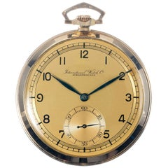 Vintage International Watch Company Yellow Gold Pocket Watch