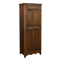 Vintage Ipswich Wardrobe, English, Oak, Four Panel Cupboard Art Deco, circa 1930