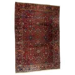 Vintage Iranian Hand Knotted Wool Area Rug