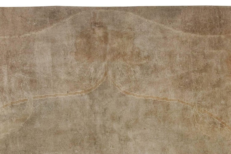 Hand-Knotted Vintage Irish Donegal Rug For Sale