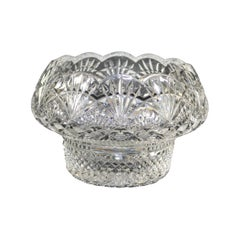 Vintage Irish Waterford School Cut Crystal Center Bowl, 20th Century