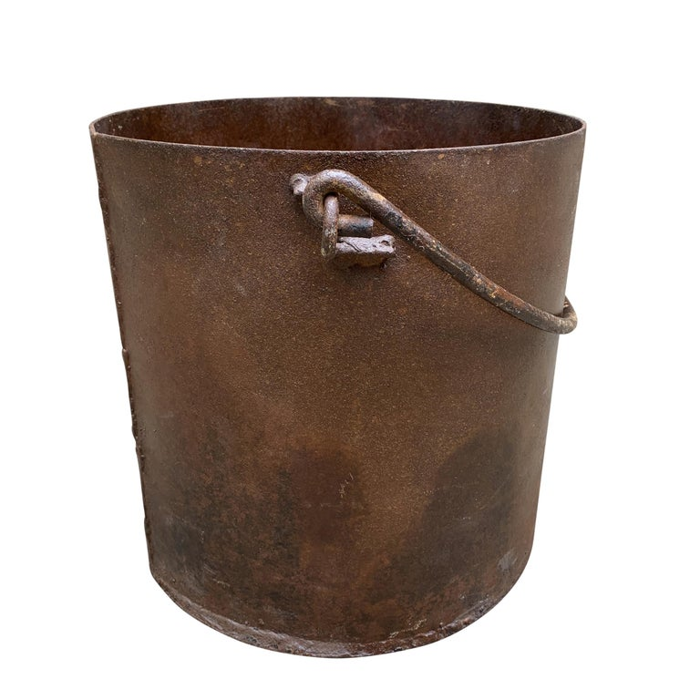20th Century Vintage Iron Bucket For Sale