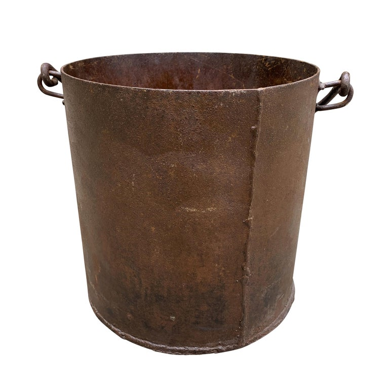 Vintage Iron Bucket For Sale 1