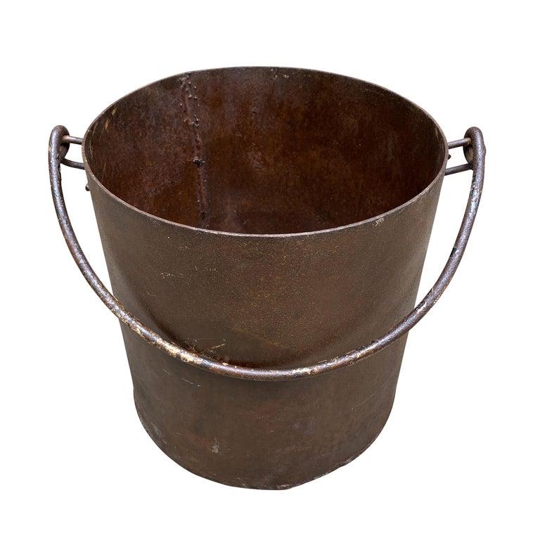 Vintage Iron Bucket For Sale 2