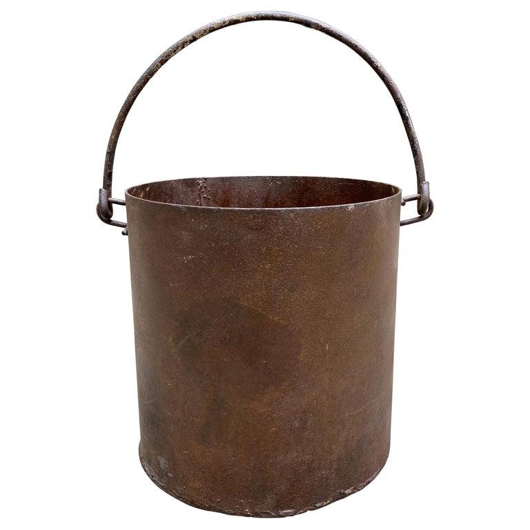 Vintage Iron Bucket For Sale