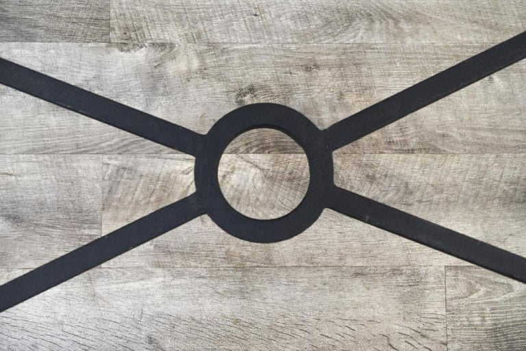 Vintage Iron Coffee Table Base For Sale 1