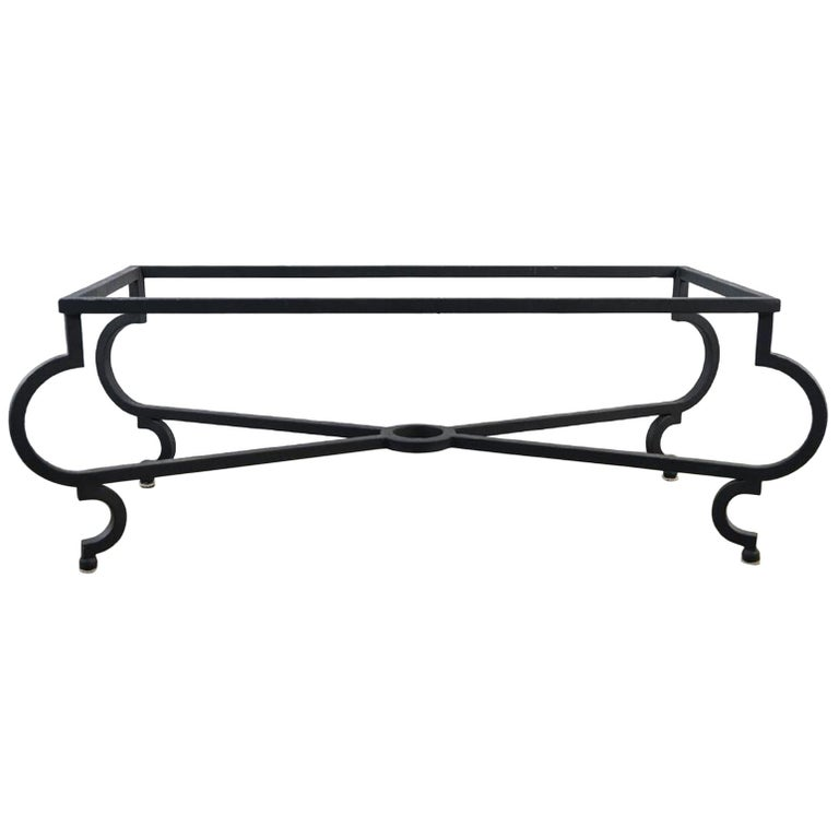 Vintage Iron Coffee Table Base For Sale