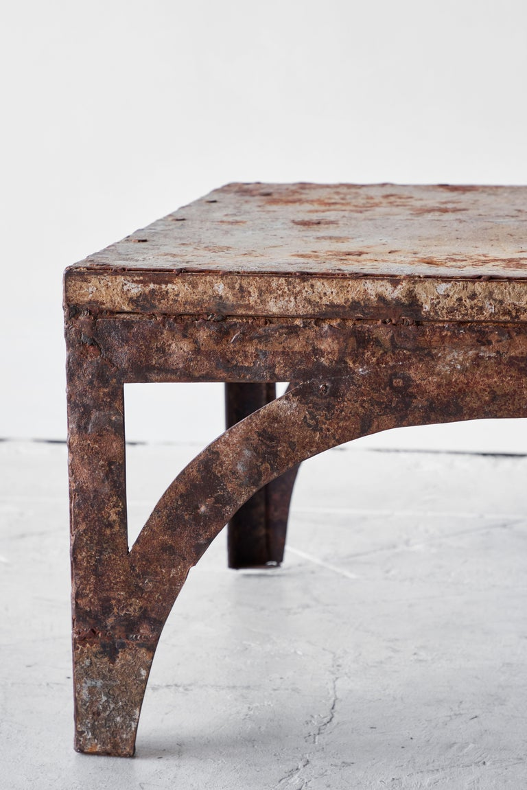 20th Century Vintage Iron Coffee Table For Sale